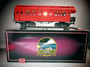 MTH THE IVES RAILWAY LINES OBSERVATION CAR 189-1 C-8 MTH BOX DOES NOT MATCH.
