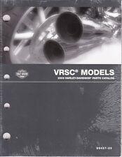 2009 Harley VRSC VRSCDX VRSCF VROD V-ROD Part Parts Catalog Manual Book 99457-09