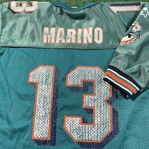 Dan Marino Miami Dolphins Jersey Boys M Blue NFL Football Vintage 90s Starter