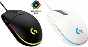 Logitech - G203 LIGHTSYNC Wired Optical Gaming Mouse - White