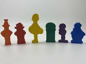 """Lot of 6 1980's Sesame Street Solid Flat 2 to 3.25"""" PVC Figures Muppets Inc RARE"""