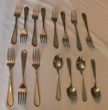 New listing 11 Oneida Usa Stainless Flight Reliance Dinner Forks 7.25� & 4 Teaspoons 6�