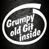 GRUMPY GIT INSIDE STICKER Funny Car Van JDM Window Bumper Novelty Vinyl Decal