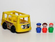 Vintage Fisher Price Little People Rare  Pampers Promotional Mini Bus 141 Set!