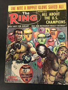VTG THE RING MAGAZINE MUHAMMAD ALI CASSIUS CLAY BOXING NOVEMBER 1975
