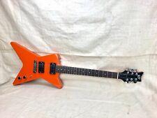 Vintage Tom Holmes Custom THC Star Guitar Circa 1979 Orange 1970's-1980's