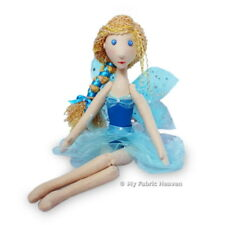 """Midsummer Faerie Rag Doll 14"""" Paper Sewing Pattern & Easy Instructions, Fairy"""