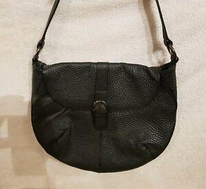 Handtasche Damentasche Schulter Hand LEDER Tasche Bag EDEL Ledertasche Schwarz