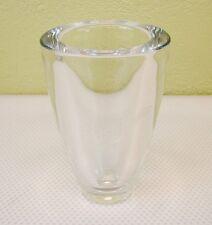 RCC S Comac Art Glass Heavy Vase Hand Engraved