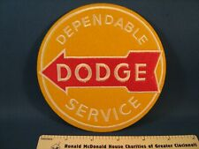 DODGE Dependable Service racing jacket patch from new old vendor stock --HUGE!!