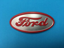 Ford 8N Tractor Hood Emblem Cast Aluminum Red Original Factory Style 8N16600A
