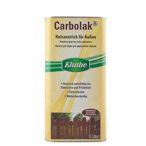 (6,20€/ L)Kluthe Carbolak Jägerzaunlasur, 5L Teerölfreier Imprägnierschutz