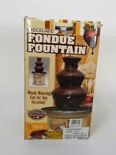 Nostalgia Electrics Chocolate Fondue Fountain