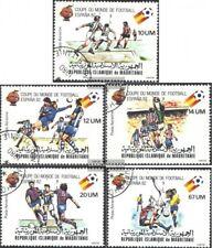 Mauretanien 691I-695I (kompl.Ausg.) gestempelt 1980 Fußball-WM 1982 in Spanien