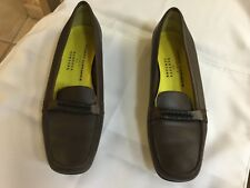 ROBERT CLERGERIE Paris Authentic Brown Leather Flats Loafers Women's US 9.5