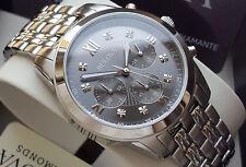 Orologio Cronografo BULOVA Diamond Mens 8 Brillanti REGALO con INCISIONE NUOVO