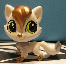 Littlest Pet Shop #45 LuLu FOXLEY White, Silver & Bronze Fox
