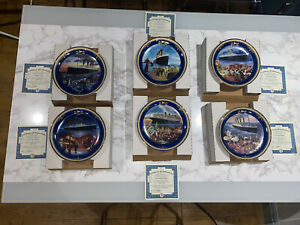 Limited Edition Offical Titanic Collectors Plates First Six Of Collection