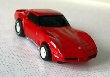 TYCO '80 Red Corvette with NEW old stock narrow pan Chassis. UNUSED