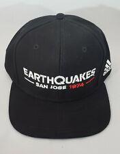Black MLS San Jose Earthquakes 1974 Adidas Adjustable Snapback