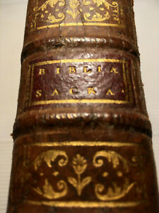 +1769+ BIBLE en LATIN BIBLIA SACRA SIXTI V CLEMENTIS VIII LIVRE DIEU BOOK BIBLIA