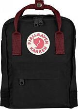 Fjallraven Mini Kanken Backpack Black / Ox Red