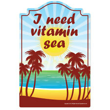 Vitamin Sea Decal | Funny Home Décor Garage Wall Lover Plastic Gag Gift
