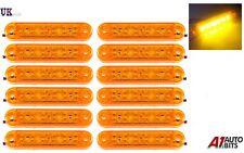 12x 12V 24V 6 LED Amber Orange Side Marker Lights Indicator Trailer Truck Lorry