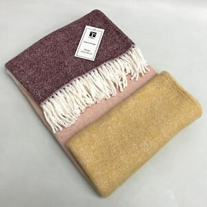 New Texteis Penedo Throw Multicoloured Cotton Mix Tasselled Blanket 473207