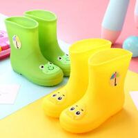 Toddler Big Children Girls Boys Cute Cartoon Waterproof Rain Boot Wellies Shoes