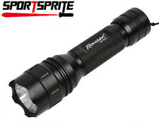 CREE Q5+UV LED 800LM 2 Mode Flashlight Torch For Outdoor Warning Camping Hiking