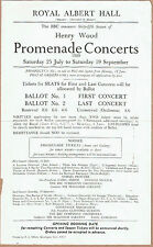 1959 Royal Albert Hall, Henry Wood Prom Concert Advertising Flyer