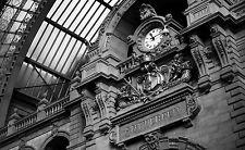 Lámina-Antwerpen estación de tren Torre del Reloj (imagen Cartel Bélgica Arte)