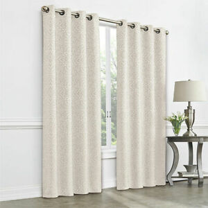 1 NEW JC Penney Plaza Tapestry Cream Turtle Dove Grommet Curtain Panel 50 x 84