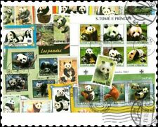 Panda Bears : 25 Different Stamps Collection