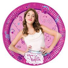8 assiettes en carton Violetta Disney