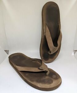 Rainbow sandal flip flops Expresso Brown (Men's L 9.5-10.5) Double Layer