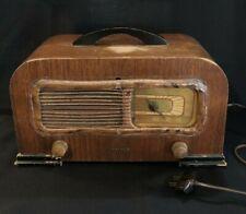 Vintage PHILCO TRANSITONE RADIO 42-PT94 AM Table Walnut Wood Cabinet 1941 *WORKS