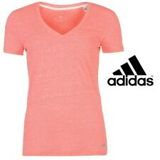 Adidas Performance Womens T-Shirt Fitness Girls Ladies Free Post - Med (10-12)