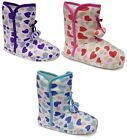 Womens Sophie Bootee Heart Slipper Boots Bootie In/Outdoor Textile Warm Comfort
