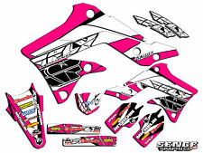 1999 2000 2001 2002 KX 125 250 GRAPHICS KIT KAWASAKI KX125 KX250 DECO FLY PINK