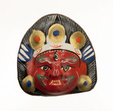 MAGNET DE MAHAKALI DEITE BOUDDHIQUE TIBETAINE NEPAL TIBET 49 MM 5137 S6B
