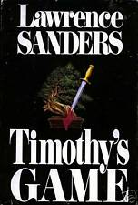 Timothy's Game by Lawrence Sanders (1988) HC*