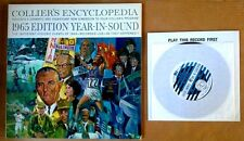 """COLLIER'S ENCYCLOPEDIA -BEATLES APP.-1965 EDITION YEAR-IN-SOUND- LP + 7"""" SINGLE"""