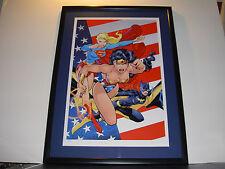 WB JIM LEE HEROINES OF THE DC UNIVERSE WONDER WOMAN SUPERGIRL BATGIRL LITHOGRAPH