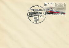 Poland postmark STARGARD - railway electrification locomotive