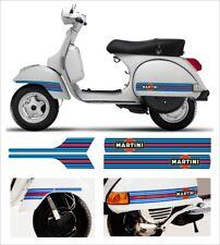 Kit Adesivi MARTINI Vespa PX LML STAR T5 laterali + parafango Stickers Scooter