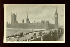 London Houses of Parliament Tuck Glosso #1075 Vintage PPC
