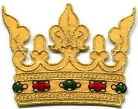 King's Crown royalty royal retro embroidered applique iron-on patch S-1357