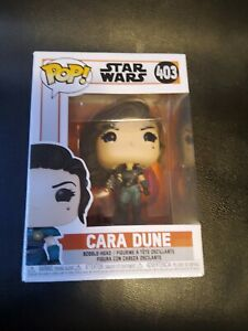 Funko POP Star Wars Mandalorian Cara Dune 403, box has some dents.